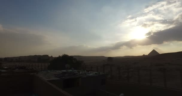Giza pyramids in the evening