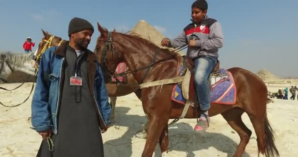 Local people with horses