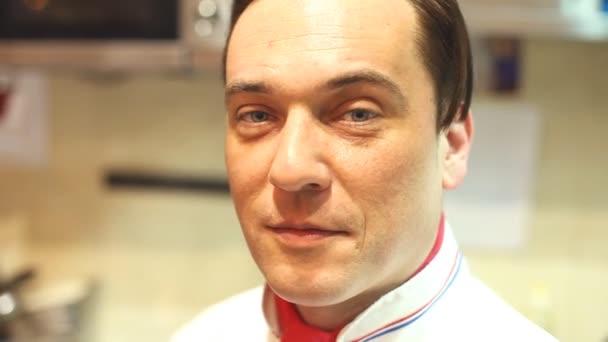 Chef smiling at camera