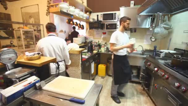 Chefs at restaurant kitchen