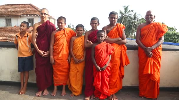 Buddhist monks in a Buddhist temple