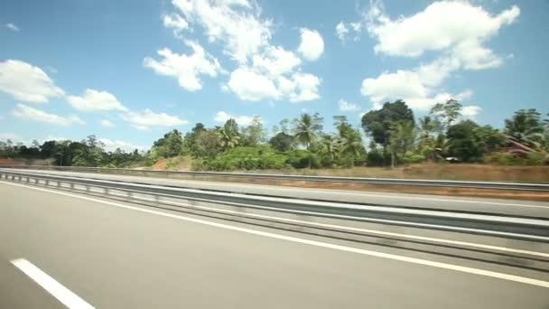 Pohled na silnici a krajina