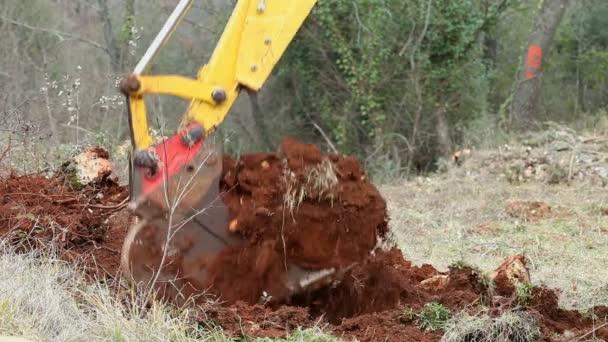 Těžkých strojů bagr výkopy země pro stavebnictví
