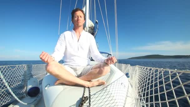 Man enjoying sailing trip