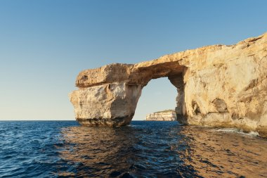 Limestone natural arch on Island of Gozo