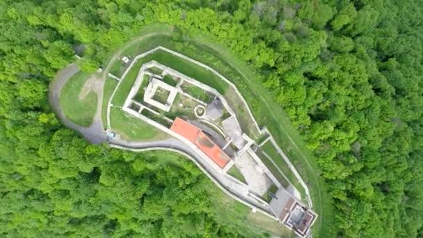 pevnosti Medvedgrad s hora Medvednica lesní