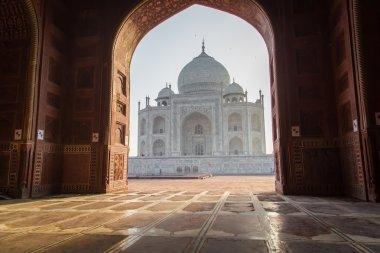 Taj Mahal from mosque