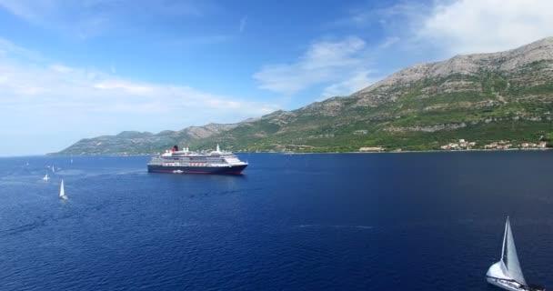 cruise ship in Adriatic, Croatia