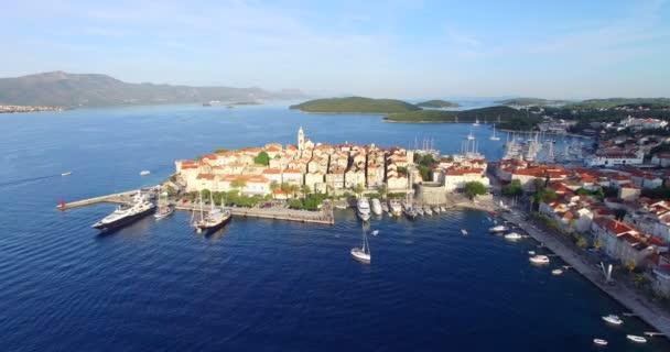harbour in city of Korcula, Croatia