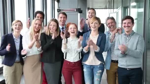 advertising team clapping