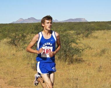 A Cross Country Runner Runs a Desert Course