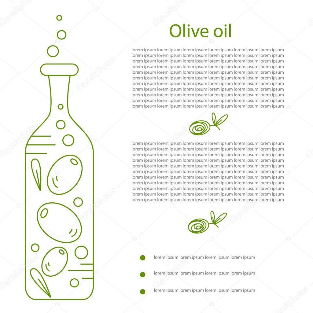 Outline olive oil bottle
