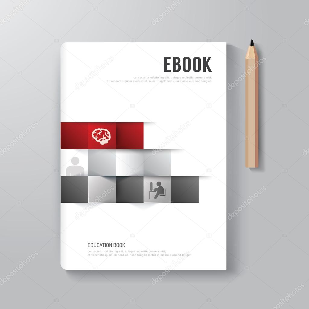 Business Deposit Book Cover : Cover book digital design minimal style template — stock