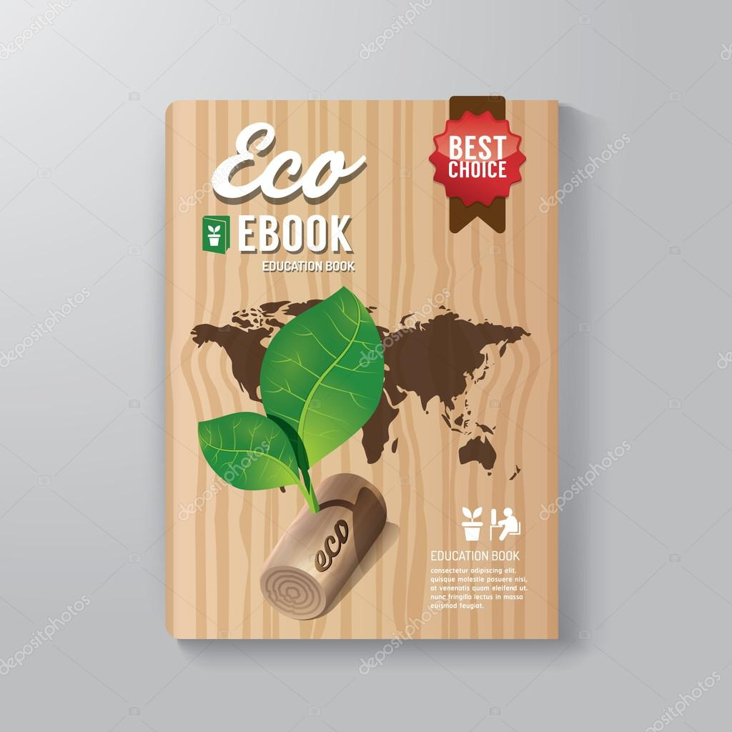 Cover Book Digital Design Template Eco Concept