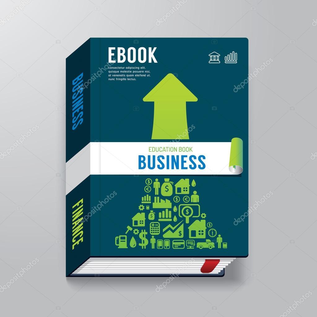 Business Deposit Book Cover ~ Modelo de design negócios livro capa — vetores