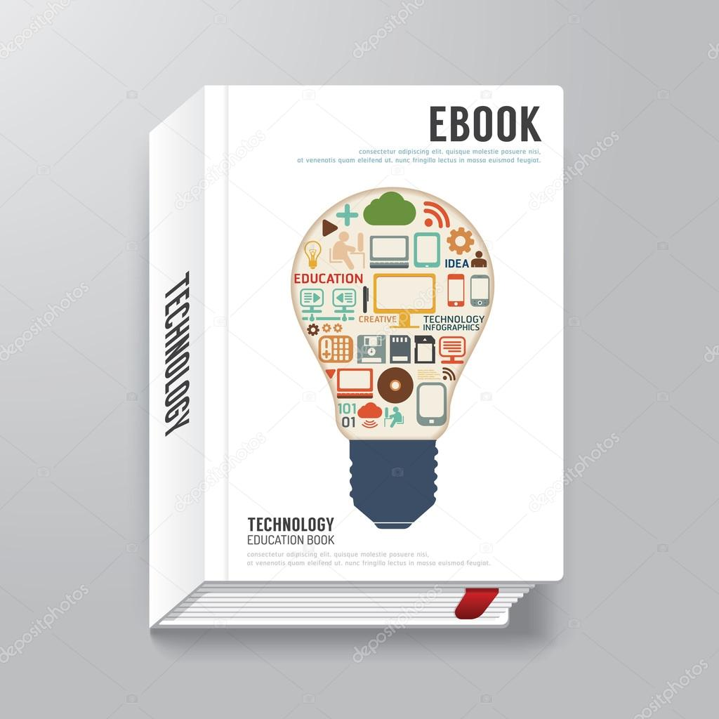 libro digital diseño de la portada — Archivo Imágenes Vectoriales ...