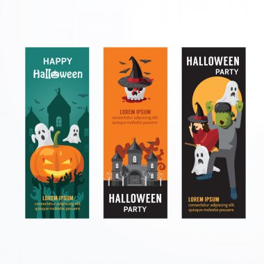 Halloween Day Party Banner