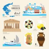 Greece Flat Icons