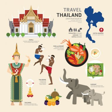 Thailand Flat Icons