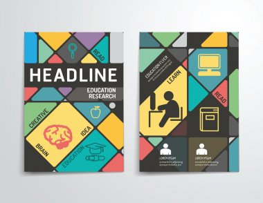 Vector brochure, flyer, magazine cover booklet poster design template. layout education annual report A4 size. clip art vector