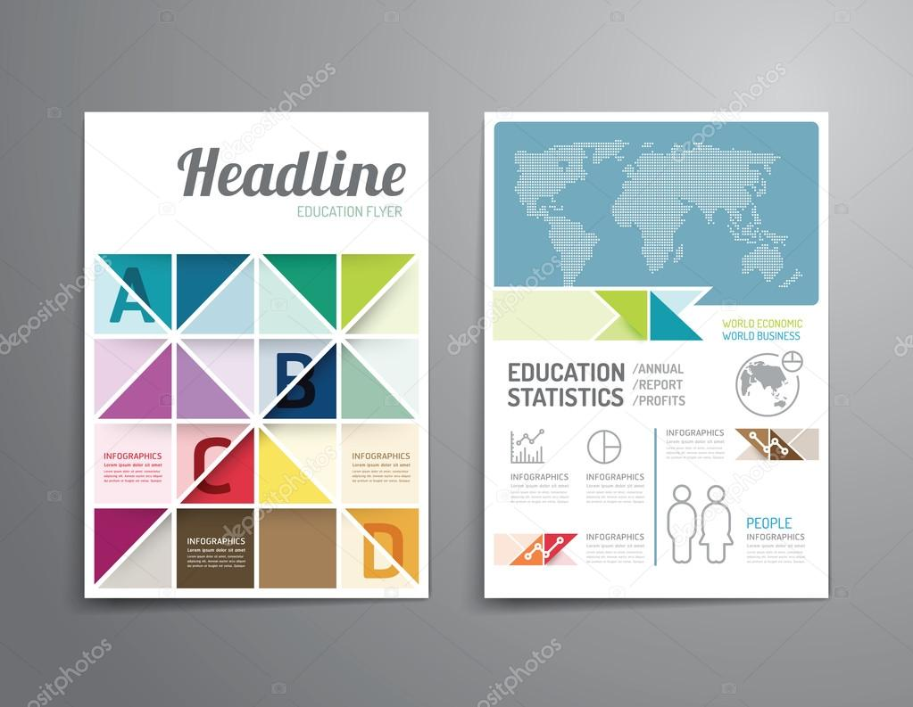 Poster design size - Vector Brochure Flyer Magazine Cover Booklet Poster Design Template Layout Education Annual Report A4 Size Vector By Pongsuwan