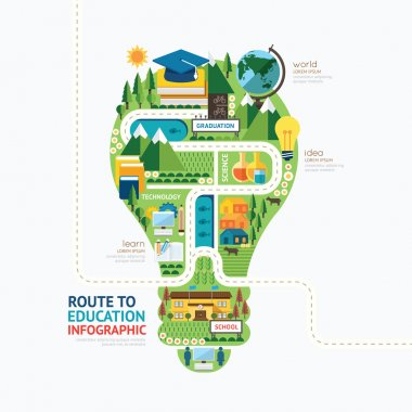 Infographic education template design