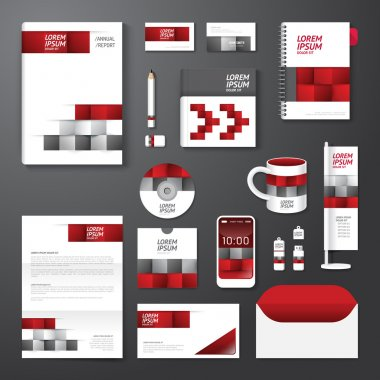 Set of corporate identity template