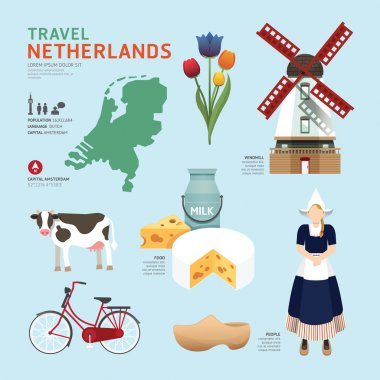 Netherlands Travel Concept.
