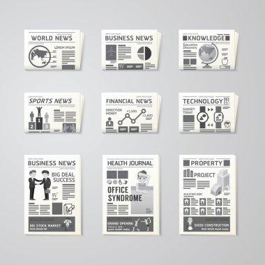 Newspaper daily set design
