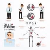 Infographic úřadu syndrom šablony Design
