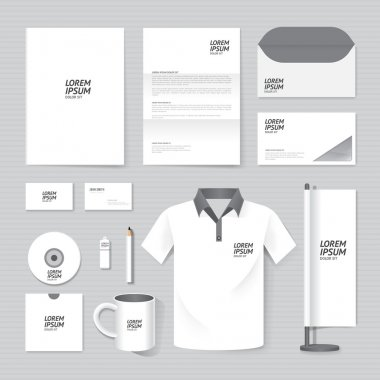 Set of corporate identity template.