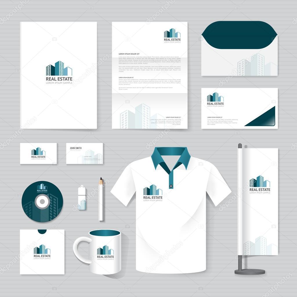 Set Of Corporate Identity Template Stock Vector Pongsuwan 69599789