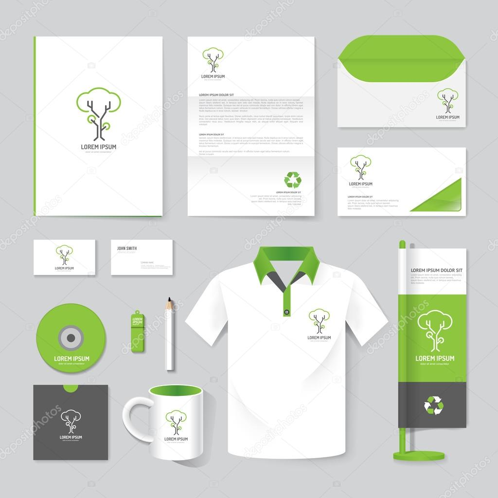 Resset15set Of Corporate Identity Template Stock Vector