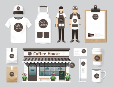 Cafe set of corporate identity