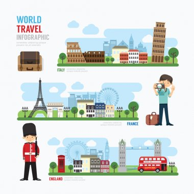 Travel and Europe Landmark  Infographic.