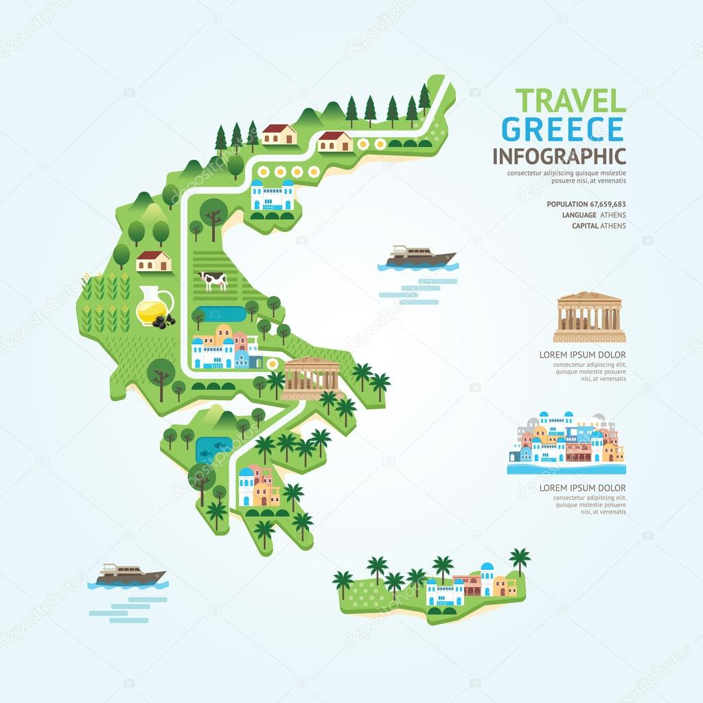 Infographic travel and landmark greece map — Stock Vector ... on map print, map of all of europe, map of america, map miami fl, map facebook covers, map in minecraft, map of african ethnic groups, map photography, map with legend, map sea monster, map charts, map from europe, map virginia usa, map with mountains, map travel, map making, map of european ethnic groups, map google, map in spanish, map norms,