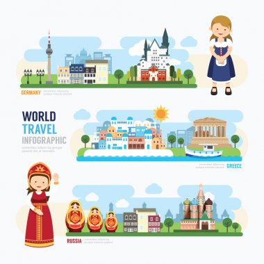 Travel and Europe Landmark Template Infographic.