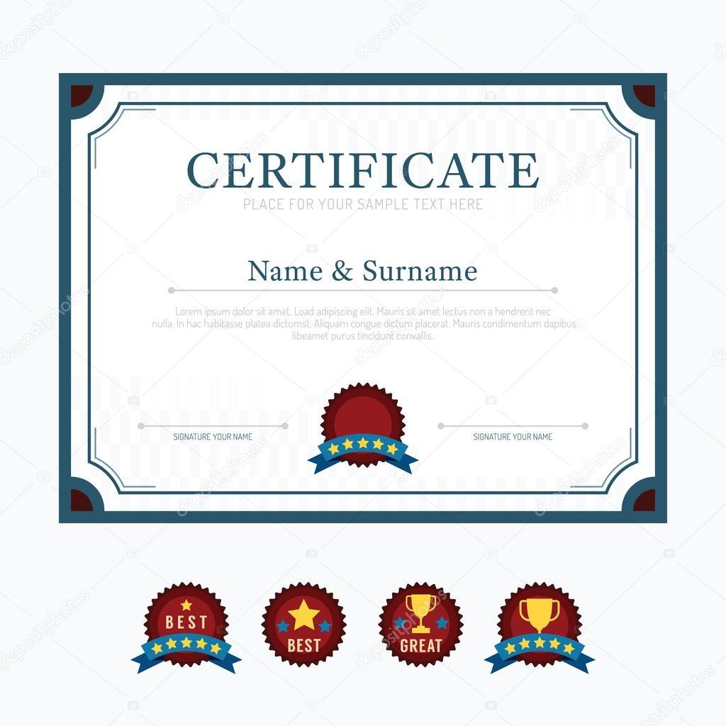 Zertifikat-Vorlage-Hintergrund — Stockvektor © pongsuwan #77883002