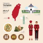 Taiwan flache Icons Design Reisen Concept.Vector