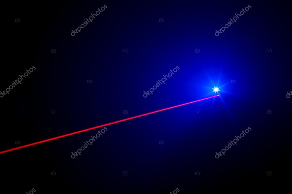 Laser Beam and LED light