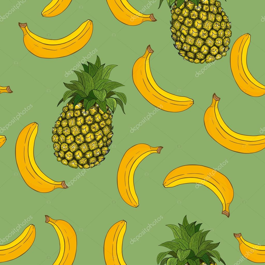 Banana and pineapple pattern