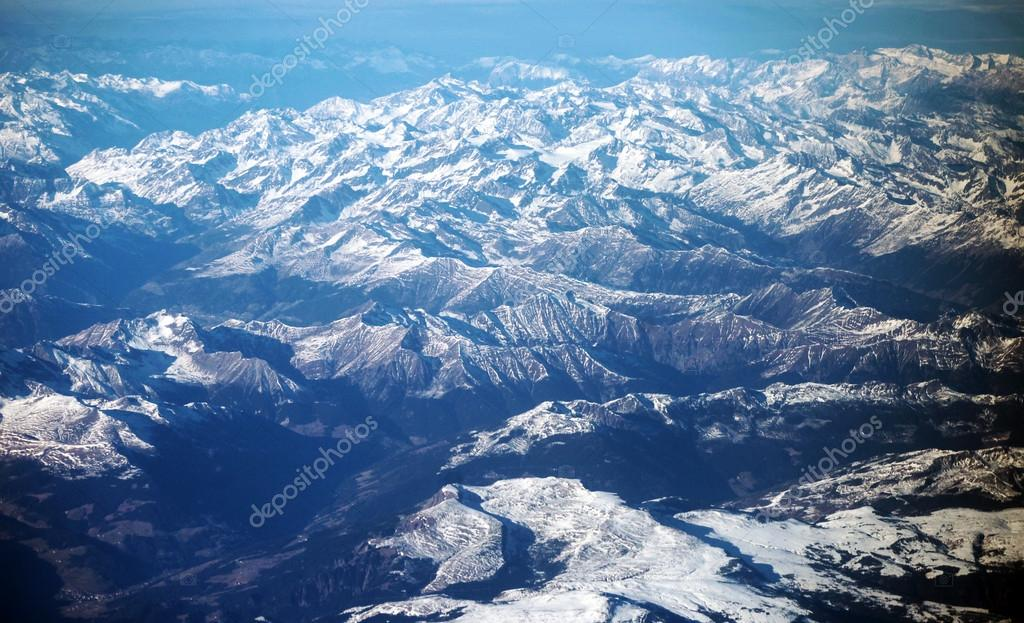 The Alps out of the plane