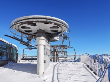 Chairlift in the high mountains
