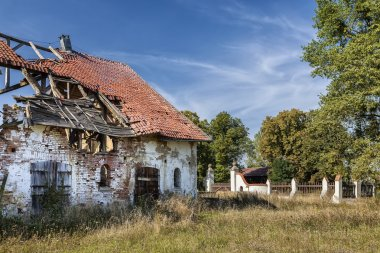 The ruins of the old manor house