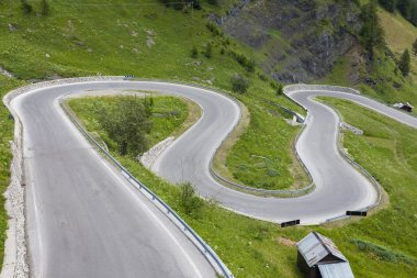 Sharp turns on a mountain road
