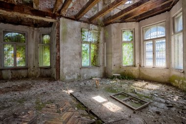 Scary room in abandoned house
