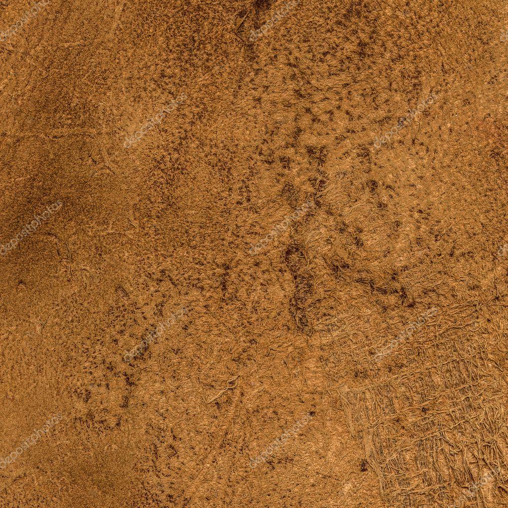 Closeup De Textura De Cuero De Color Marron Amarillento Viejo - El-color-marron