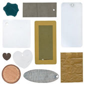 Fotografia Set di tag di carta e cartone