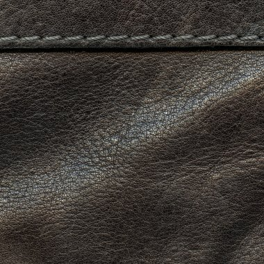 dark brown leather texture, seam, stitches