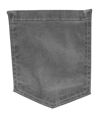 brown jeans back pocket on white background